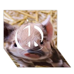Sweet Piglet Peace Sign 3d Greeting Card (7x5)