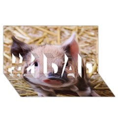 Sweet Piglet #1 Dad 3d Greeting Card (8x4)
