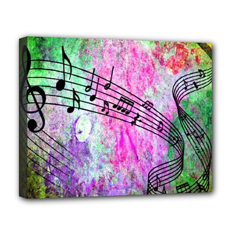 Abstract Music  Deluxe Canvas 20  X 16