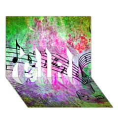 Abstract Music  Girl 3d Greeting Card (7x5)  by ImpressiveMoments