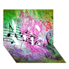 Abstract Music  Love 3d Greeting Card (7x5)  by ImpressiveMoments