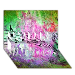 Abstract Music  You Are Invited 3d Greeting Card (7x5)