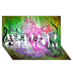Abstract Music  #1 Mom 3d Greeting Cards (8x4)