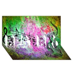 Abstract Music  Best Bro 3d Greeting Card (8x4)
