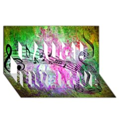 Abstract Music  Laugh Live Love 3d Greeting Card (8x4)