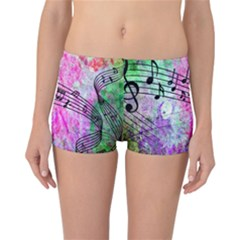 Abstract Music  Reversible Boyleg Bikini Bottoms