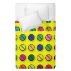 Multi Col Pills Pattern Duvet Cover (single Size) by ScienceGeek