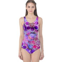Pretty Floral Painting Women s One Piece Swimsuits by KirstenStarFashion