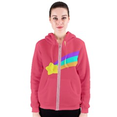 Shooting Star Women s Zipper Hoodies by ULTRACRYSTAL