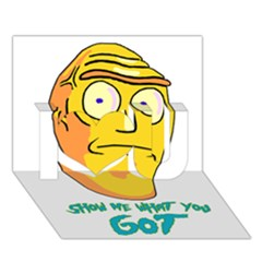 Show Me What You Got New Fresh I Love You 3d Greeting Card (7x5)  by kramcox