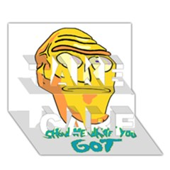 Show Me What You Got New Fresh Take Care 3d Greeting Card (7x5)