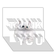 White Persian Cat Clipart Thank You 3d Greeting Card (7x5)  by AlteredStates