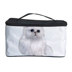 White Persian Cat Clipart Cosmetic Storage Cases by AlteredStates
