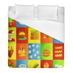 Christmas Things Duvet Cover Single Side (Twin Size) by julienicholls