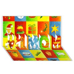 25 Xmas Things #1 Mom 3d Greeting Cards (8x4)  by julienicholls