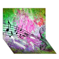 Abstract Music 2 Love Bottom 3d Greeting Card (7x5)