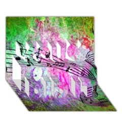 Abstract Music 2 You Did It 3d Greeting Card (7x5)