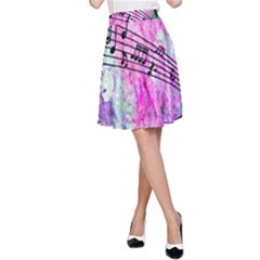 Abstract Music 2 A Line Skirts