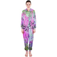 Abstract Music 2 Hooded Jumpsuit (ladies)
