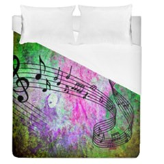 Abstract Music 2 Duvet Cover Single Side (full/queen Size)