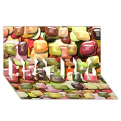 Stones 001 Best Bro 3d Greeting Card (8x4)