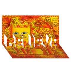 Patterned Lion Believe 3d Greeting Card (8x4)