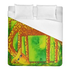 Patterned Giraffe  Duvet Cover Single Side (twin Size) by julienicholls