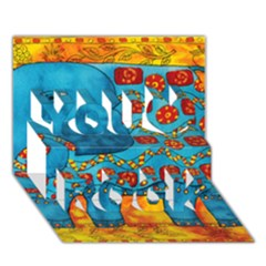 Patterned Elephant You Rock 3d Greeting Card (7x5)