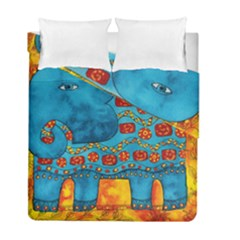 Patterned Elephant Duvet Cover (twin Size) by julienicholls