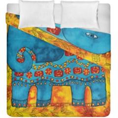 Patterned Elephant Duvet Cover (King Size) by julienicholls