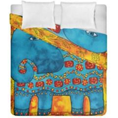 Patterned Elephant Duvet Cover (Double Size) by julienicholls