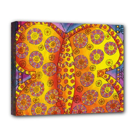 Patterned Butterfly Deluxe Canvas 20  x 16   by julienicholls