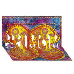 Patterned Butterfly #1 MOM 3D Greeting Cards (8x4)