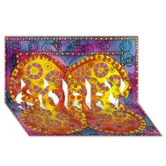 Patterned Butterfly SORRY 3D Greeting Card (8x4)