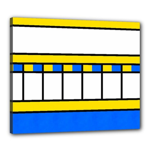 Stripes And Squares Canvas 24  X 20  (stretched) by LalyLauraFLM