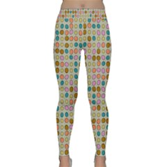 Retro Dots Pattern Yoga Leggings by LalyLauraFLM