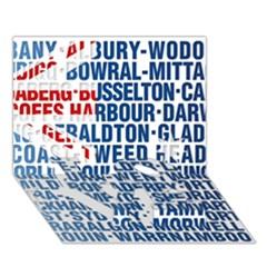 Australia Place Names Flag Love Bottom 3d Greeting Card (7x5)