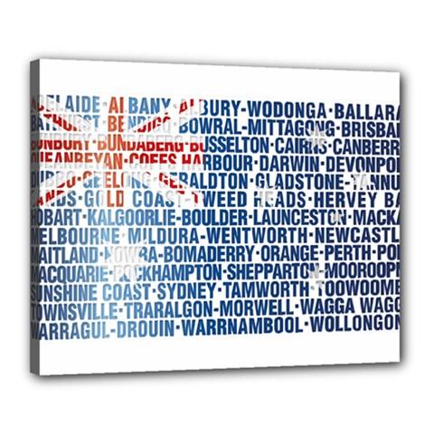 Australia Place Names Flag Canvas 20  X 16  by theimagezone