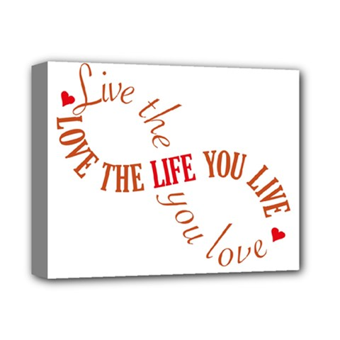 Live The Life You Love Deluxe Canvas 14  x 11  by theimagezone