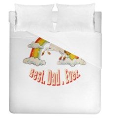 Best  Dad  Ever  Duvet Cover Single Side (full/queen Size) by redcow
