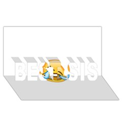 Cryingwithlaughter Best Sis 3d Greeting Card (8x4)  by redcow