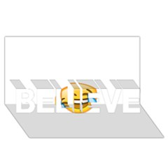 Cryingwithlaughter Believe 3d Greeting Card (8x4)