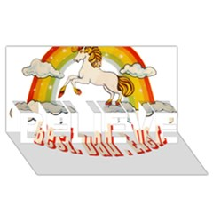 Best  Dad  Ever Believe 3d Greeting Card (8x4)  by redcow
