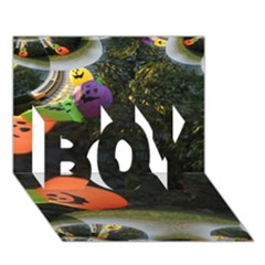 Floating Pumpkins Boy 3d Greeting Card (7x5) by gothicandhalloweenstore