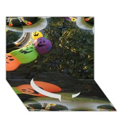 Floating Pumpkins Circle Bottom 3d Greeting Card (7x5)