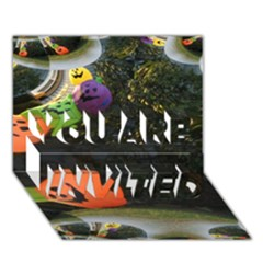 Floating Pumpkins You Are Invited 3d Greeting Card (7x5)