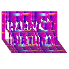 Pink Cell Mate Happy Birthday 3d Greeting Card (8x4)