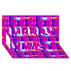 Pink Cell Mate Merry Xmas 3d Greeting Card (8x4)