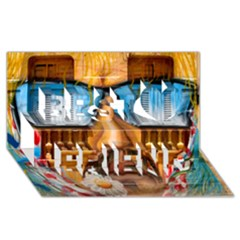 Graffiti Sunglass Art Best Friends 3d Greeting Card (8x4)  by TheWowFactor