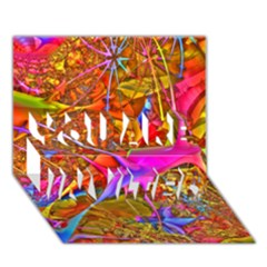 Biology 101 Abstract You Are Invited 3d Greeting Card (7x5)